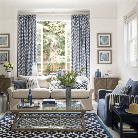 blue and gray living room combination enjoy a mood all year with a mediterranean