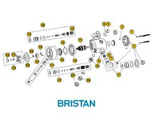 bristan 1901 dual control exposed mk3 shower spares and