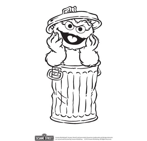Oscar The Grouch Coloring Page oscar grouch coloring pages