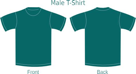 Teal T Shirt Template Teal Template Clip Art At Clker Com Vector Clip Art Online Royalty Free Public Domain