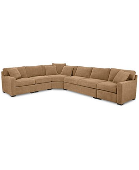Macys Radley Sectional by Radley 5 Fabric Sectional Sofa Custom Colors