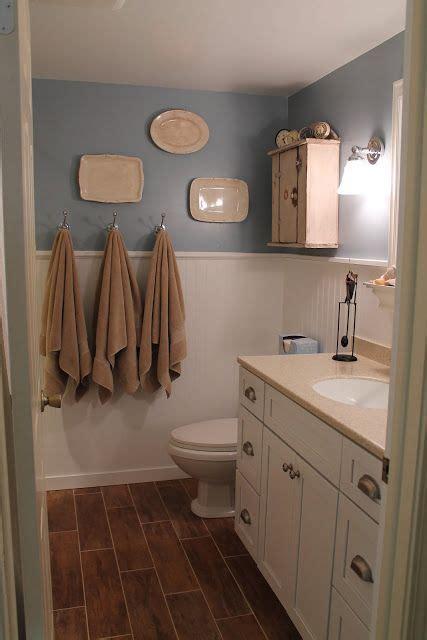 elizabeth on the bathroom floor elizabeth co bathroom renovation beadboard and ceramic quot wood look quot tile heated