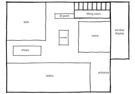 clothing store floor plan layout peacocks store layout peacocks ycn student awards