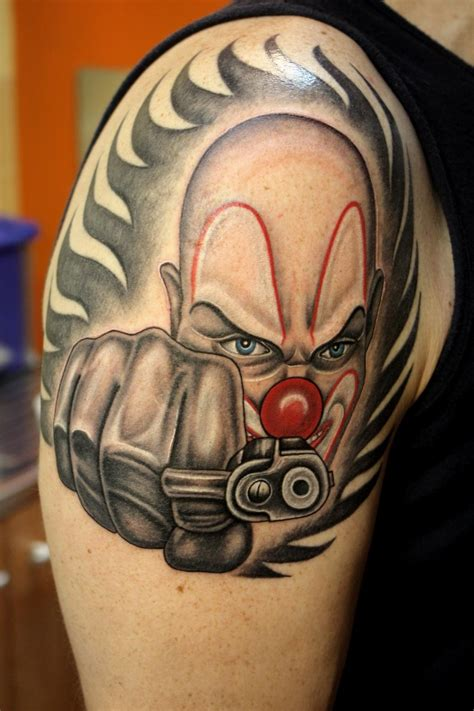 gangsta tattoos gangster clown tattoos www imgkid the image kid