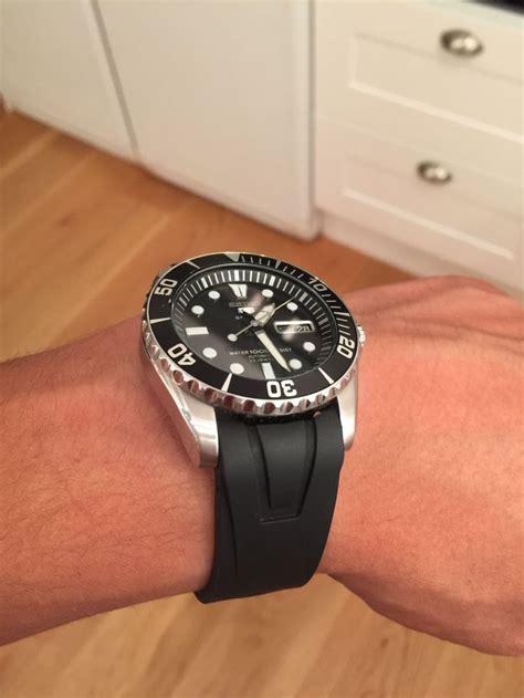 Seiko Snzf17 seiko sea urchin snzf17 with a black rubber or silicone