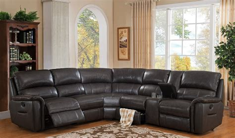 Real Leather Sectionals by 4 Camino Genuine Leather Sectional