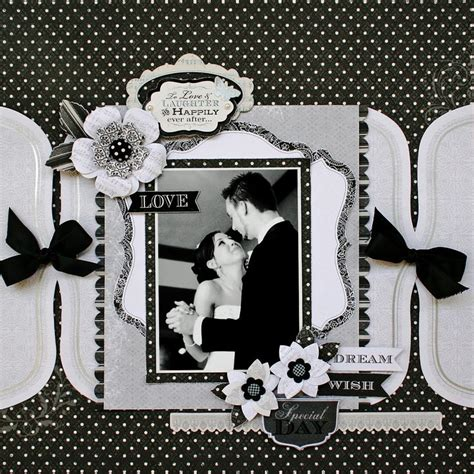 scrapbook layout black and white wedding scrapbook ideas black and white www pixshark com
