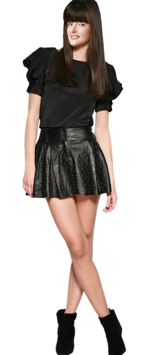 voguish fall leather mini skirt womens leather skirts
