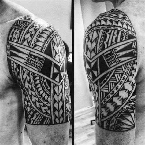 half sleeve polynesian tattoo designs 50 polynesian half sleeve designs for tribal