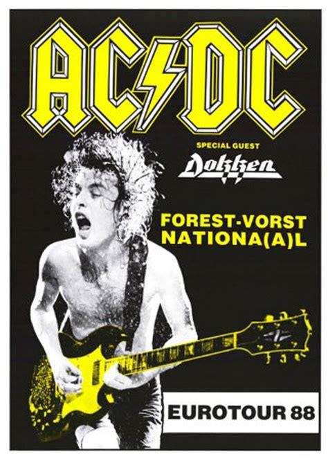 Ac National ac dc forest vorst national eurotour 1988 concert poster