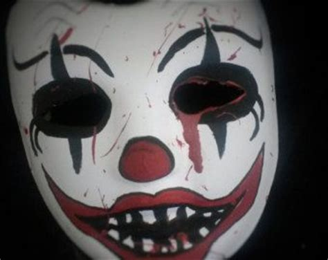 How To Make Scary Masks Out Of Paper - paper mache mask clowns and scary on