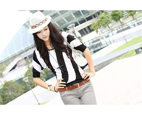 Belt Hitam Putih khazisboutique baju belang senget hitam putih asw 10 rm35
