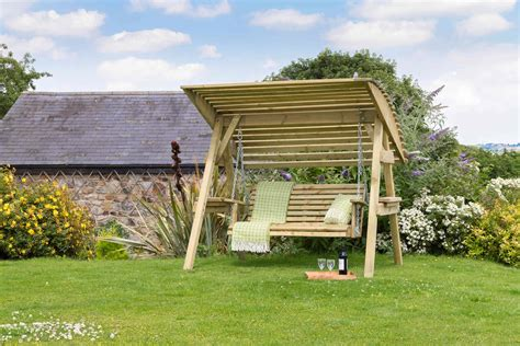 Garden Swing Seats Uk Ideas Wooden Garden Swing Bench Uk