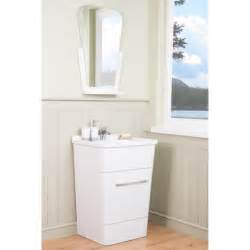 zen white 600mm floor standing vanity unit basin with
