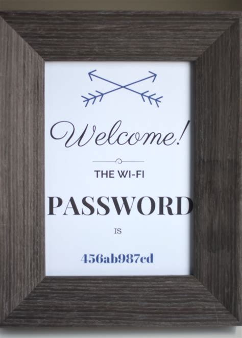Wifi Password Courtesy Card Templates by Guest Room Wi Fi Made From