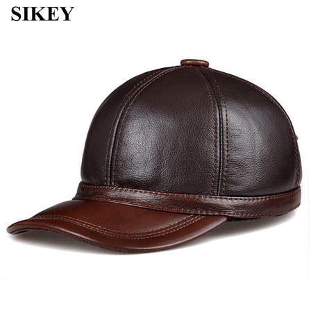 hl097 genuine leather baseball cap hat cbd high