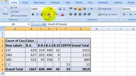 excel tutorial 3 how to make centre summary