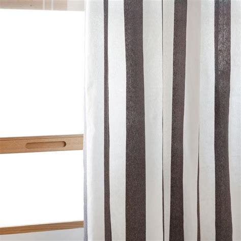 Gray Striped Curtains Gray And White Striped Ring Curtain