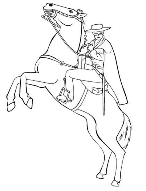 coloring pages for zorro zorro free coloring pages