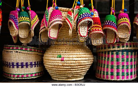 Handcraft Items - baskets and handicrafts stock photos baskets and