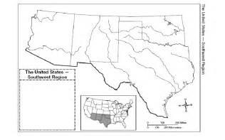 blank us map southwest region hill suzanne social studies