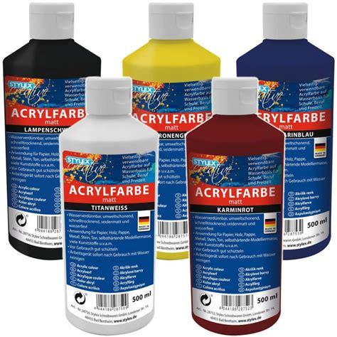 Acrylfarben Auf Holz by Stylex Acrylfarbe 500 Ml 3 95 Tintenklecksversand De
