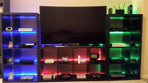 ikea game room my video game setup showing 24 systems including handhelds