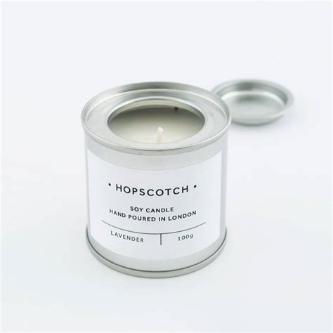 Candle Tins Lavender Scented Tin Soy Candle By Hopscotch