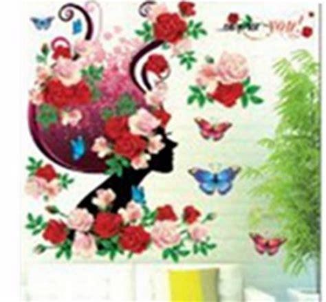 Wall Sticker 3d Xk0020 Stiker Dinding Timbul jual set stiker dekorasi dinding timbul 3d motif gadis bunga dunia
