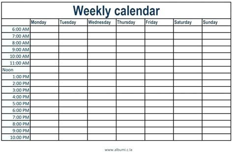 one week calendar template one week calendar template excel week calendar template