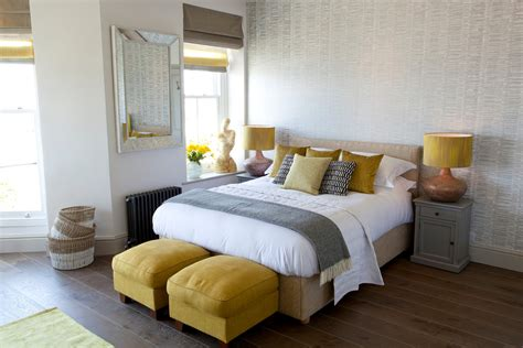 Bedroom Footstools by Footstool Bedroom With Black Radiator Beige