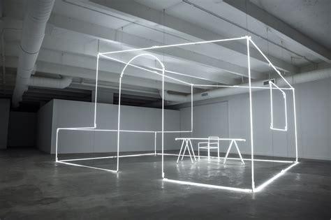 design elements lighting artist massimo uberti sculpts neon light for bentley