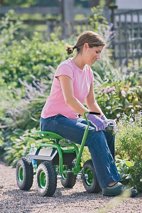 garden scooter tractor seat garden scoot rolling garden seat gardeners