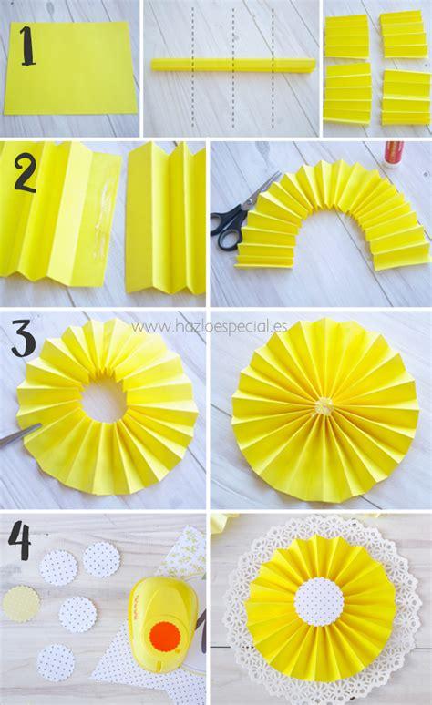 como hacer una guirnalda con circulos de papel moldes y patrones como hacer abanicos de papel