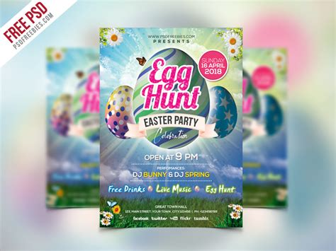 easter flyer template easter invitation flyer template psd psdfreebies