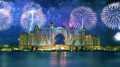 dubai city night view merry christmas happy  year fireworks wallpapers hd  desktop