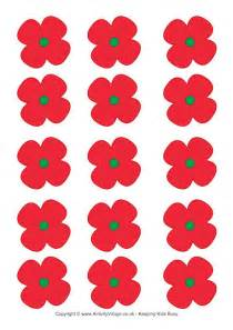 poppy template for children poppies printable