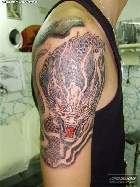 tattoo dragon en brazo tatuaje de brazo dragones orientales