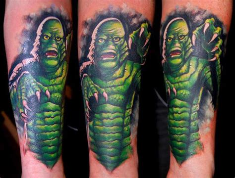 creature from the black lagoon tattoo creature from the black lagoon by bez tattoonow