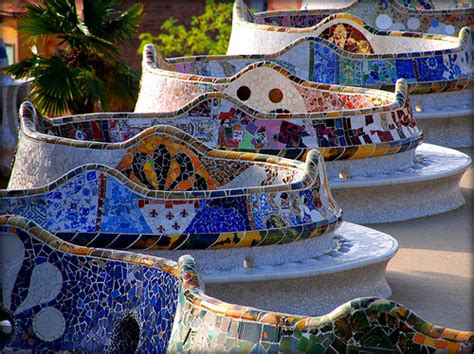 gaudi bench park guell bench