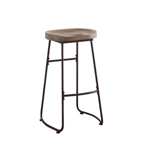 Brown Saddle Bar Stools by Antique Wood And Metal Bar Stool With Saddle Seat Brown