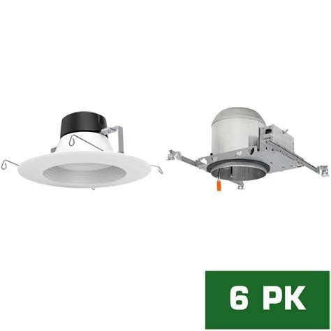new construction led recessed lighting kit envirolite 6 in led recessed new construction housing