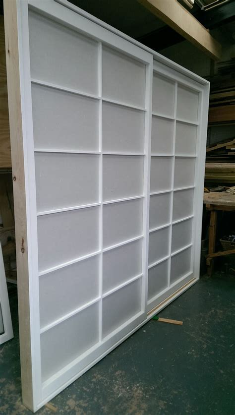 Rice Paper Closet Doors Just Finished In The Workshop A Set Of Sliding Shoji Screen Wardrobe Doors Painted Using