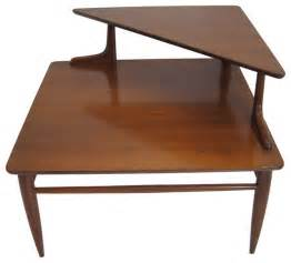 Corner Side Table Two Tier Mid Century Side Corner Table Midcentury Side Tables And End Tables Other Metro