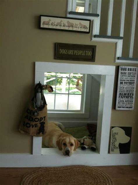 indoor dog house  stair homemydesign