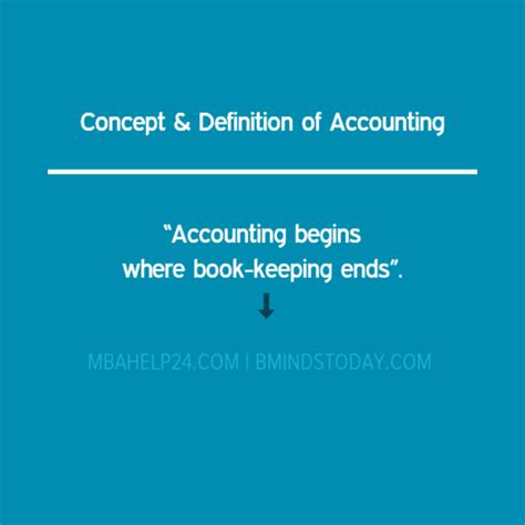 Mba Accounting Definition by Concept Definition Of Accounting