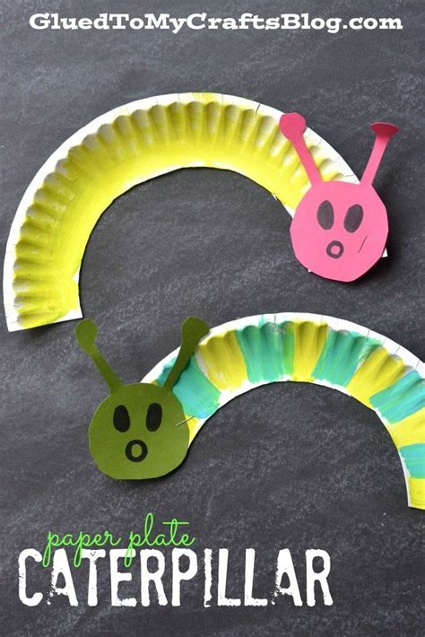 Easy Paper Plate Crafts - paper plate caterpillar kid craft craft activities