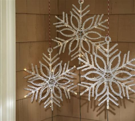 lit led snowflake contemporary holiday lighting