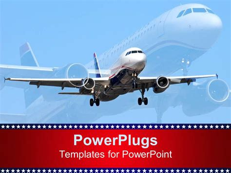 Powerpoint Template Aircraft 1462 Airplane Powerpoint Template