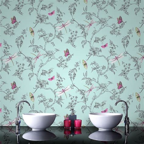 homebase kitchen and bathroom wallpaper bathroom wallpapers our pick of the best ideal home